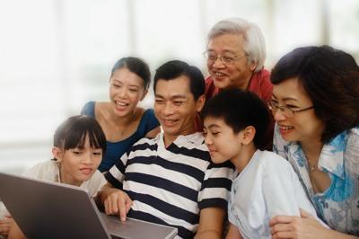 beliebige asiatische Familie