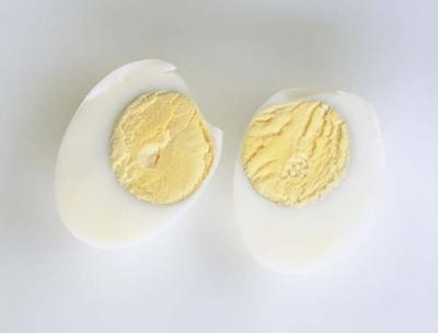 Eier kochen hartgekochtes Ei